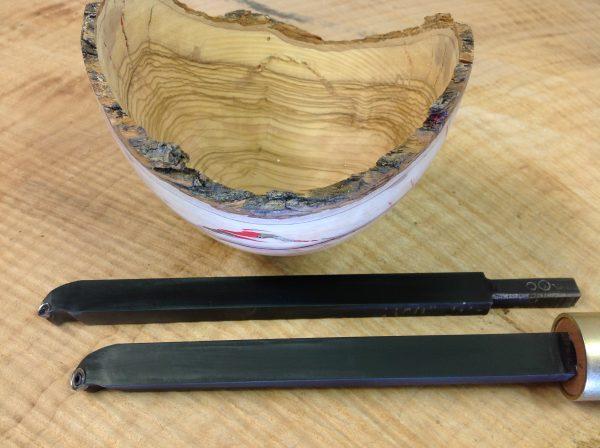 Natural Edge Wet Olive Woodturned Bowl